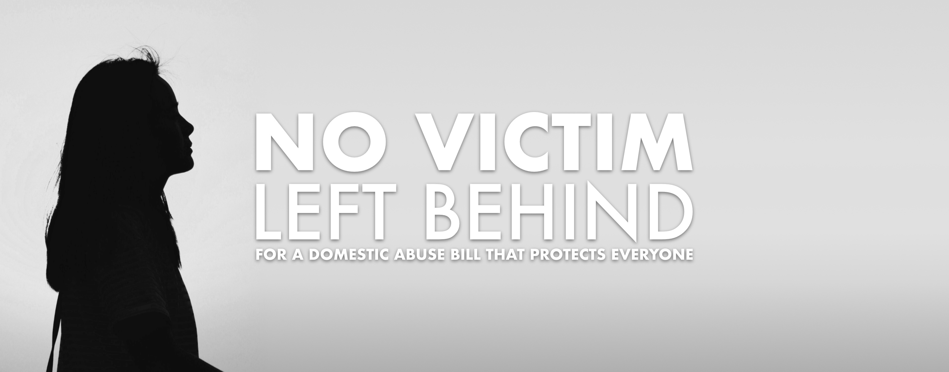 Campaign Banner saying No Victim Left Behind